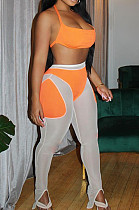 Sexy Net Yarn Joining Together Sports Two-Piece TRS1113