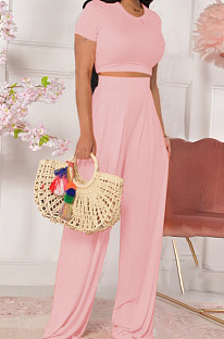 Prue Color Dew Waist Flared Trousers Casual Two-Piece TRS933