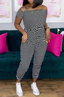 Fashion Stripe Sersonality Jumpsuits OEP6251