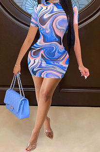 Euramerican Women Trendy Sexy Tight Mini Dress FFE101