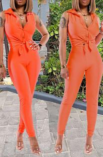 Fashion Pure Color Sleeveless Two-Piece TZ10867