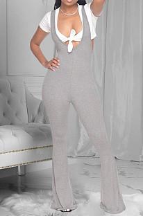 Fashion Prue Color Casual Long Jumpsuits E8571