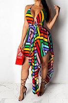 Платье миди с V-образным вырезом и поясом Condole QQM3739