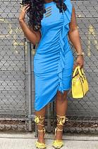 Модные складные платья Hurnt Flowers Lrregularity WM2317