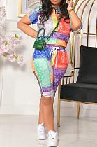 Summer Fashion Positioning Print Two-Piece YMM9059