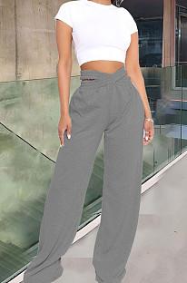 Fashion Cross Waistband Wide-Legged Long Pants YT3261