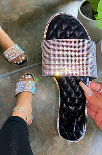 Модная сексуальная хрустальная пляжная женская обувь на каблуке XK8066