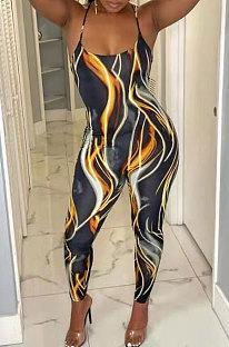 Women Net Yarn Perspective Spliced Sexy Bodycon Jumpsuits FA7182