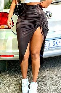 Модные черные мягкие юбки BLE2272
