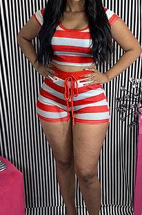 Stripe Trendy Casual Shorts Sets FA7183