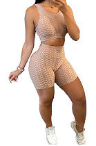 Net Yarny Perspective Sexy Sleeveless Two-Piece NRS8050