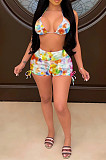 Night Club Sexy Colorful Print Two-Piece LS6420