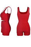 Super Elastic Pineapple Jacquard Cloth Yoga Sport Vest Shorts Sets QQM4262