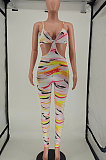 Fashion Womne Printing Backless Sexy Bodycon Jumpsuits NL6054