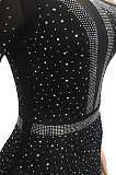 Women Sexy Club Net Yarn Irregular Long Dress XZ5028