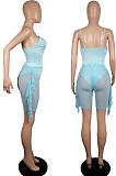 Summer Net Yarn Bikini Beach Swimsuit Two-Piece LML210