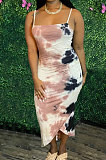 Printing Sexy Gallus Midi Dress AWL5859