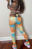 Bikini Tops Tight Long Pants Bind Colorful Sexy Pants Sets MLM9045