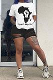 Fashion Womne Printing Casual Shorts Sets BE8013