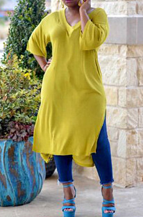 Pure Loose Five Minutes Of Sleeve Vented Dress MOM5012