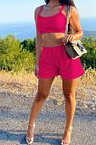 Fashion Plaid Texture Vest Pure Color Two-Piece DR8087