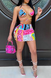 Colorful Pattern Print Bikini Two-Piece Swimsuits BBN157