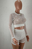 Plaid Hollow Out Casual Sport TWO-Piece HHM6513