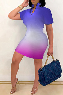 Fashion Casual Package Hip The Gradient Dress KY3061