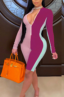 Fashion Joining Together Pit Bar Stretch Jumpsuit QZ4333