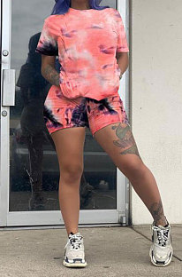 Trendy Sets Tie Dye Printing Casual Shorts Sets AYM5004