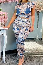 Printing Short Sleeve Pants Sets JZH8041