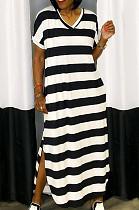 Fashion فستان كاجوال مخطط لينغ WM2328