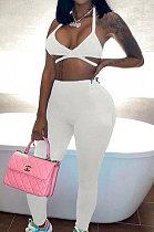 Sexy Low Bosom Gallus Vest Casual Sport Pants Sets SX01483