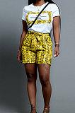 Casual Snakeskin Printing Shorts Sets SN3618
