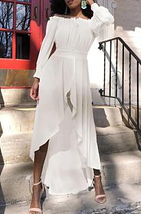 Euramerican Bind Chiffon A Work Led Большая юбка Платье со сборками на талии L0345