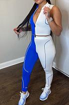 Sexy Summer Spliced Zipper Casual Two-Piece HG111