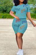 أزياء المرأة رسالة طباعة عارضة الرياضة قطعتين TK6167