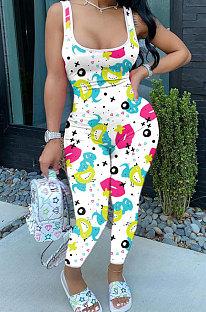 Модные женские облегающие комбинезоны с мультяшными губами AYL7015