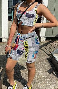 Жилет без рукавов с принтом Trendy Streets Trendsetter Комплекты шорт WME2048