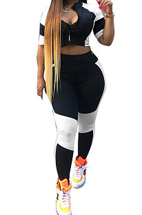 Сращенные черные белые женские повседневные домашние сексуальные брюки AYL2022