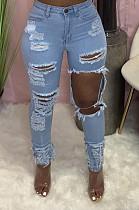 Модные штаны-ковбойские эластичные штаны с отверстием для нравственности LS6423