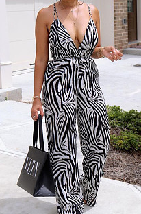 Spint Summer Fashion Stripe Сексуальный комбинезон с широкими штанинами JG037