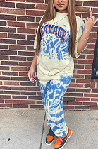 Hot Style Printed Monogrammed Bunched Leg Pants MLD5029