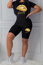 Fashion Sport Short Sleeve Casual قطعتين LL6294