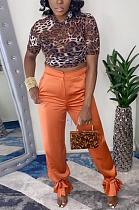 Casual Fashion Medium-Waist Leggings Casual Trousers MLD5022