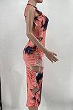 Женское сексуальное миди-платье с принтом тай-дай Euramerican AYM5011