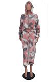 Casual Print Long Sleeve Anti-Ageing Pants Sets MLD5012