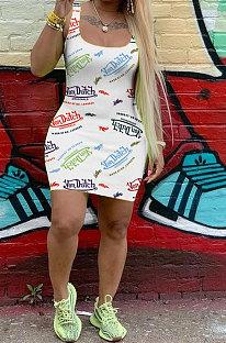 Γυναικείο casual αμάνικο γιλέκο μίνι φόρεμα FH132