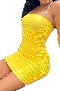 Pure Color Sexy Tight Off Shoulder Ruffle Mini Dress BLK2106