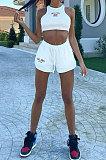 Сексуальный женский жилет без рукавов с открытием пупка, модные шорты, комплекты CYC741